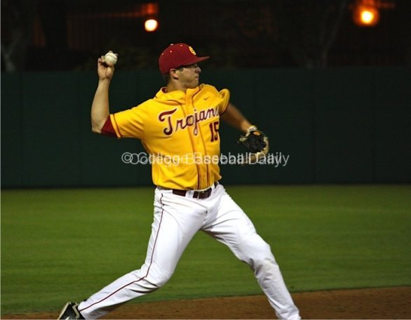 James Roberts throws across the diamond.