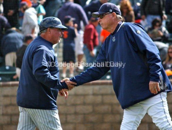 Rick Vanderhook & Mike Gillespie shake hands.