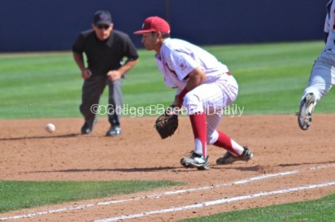 Shon Roe blocks a ball up