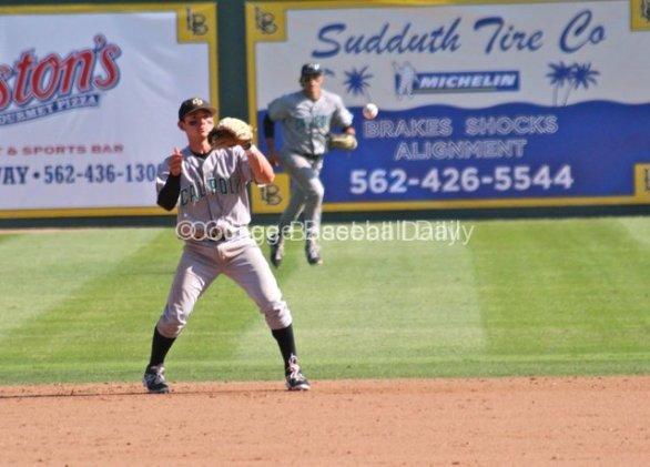 Denver Chavez waits for a hop at second base.