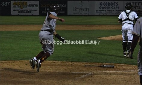 James McDonald slides in with the go-ahead run.