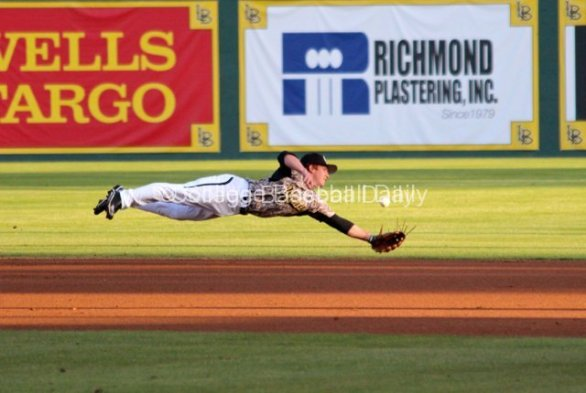 Tanner Dearman gives full extension.