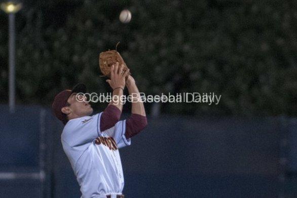 James McDonald catches a popup.