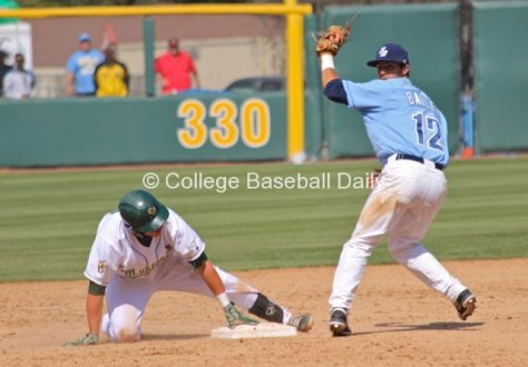 Austin Bailey looks for the call.