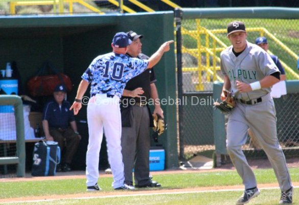 Rich Hill gets in home plate umpire Olindo Mattia's face.