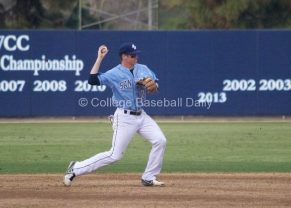 Kyle Holder goes to second base.