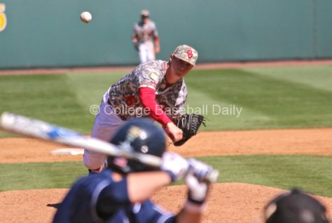 Kyle Hayes pitched a scoreless inning.