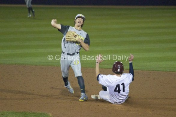 Aaron Payne turns an inning-ending DP.