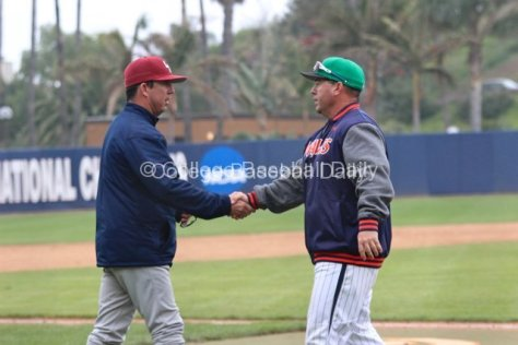 Steve Rodriguez and Jason Gill shake hands after the series.