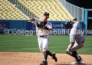 Joe Sever turns the double play.