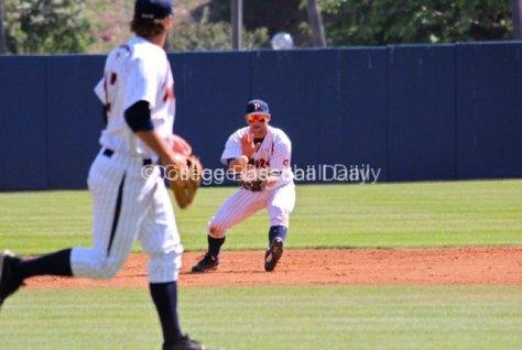Joe Sever fields a ground ball.