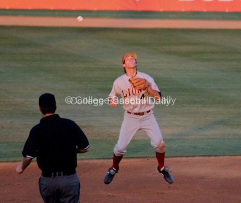 Cullen Mahoney can't find the ball.