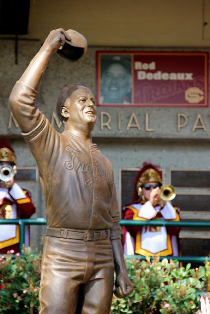 Rod Dedeaux statue.