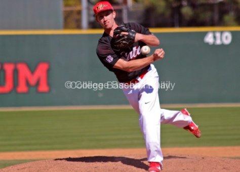 Bryan Crabbe fires a fastball.