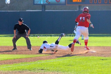 An errant throw set up St. John's go-ahead run. (Photo: Shotgun Spratling)