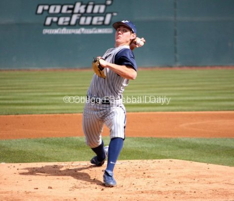 Adam Miller prepares to flip a curveball.