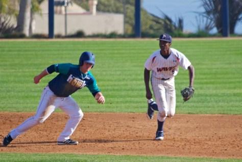 Manny Jefferson cuts behind a runner.