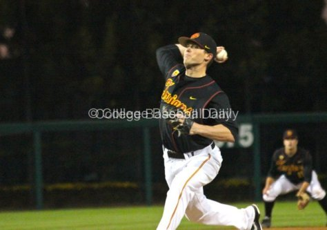 Brent Wheatley pitched five scoreless innings in his collegiate debut.