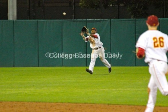 Timmy Robinson catches a line drive.