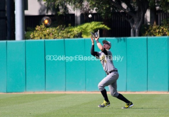 Scott Heineman catches a flyball.