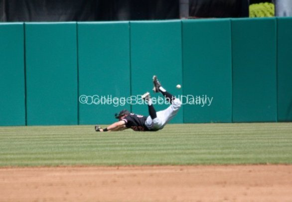 Ryan Barnes can't make the catch on a soft liner into RCF.