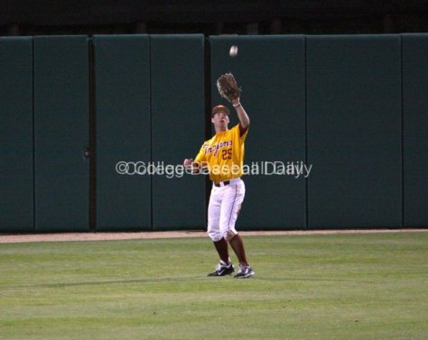 Garret Houts catches a flyout.