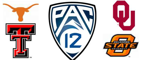 Texas, Oklahoma, Oklahoma State, and Texas Tech heading to the PAC-12?