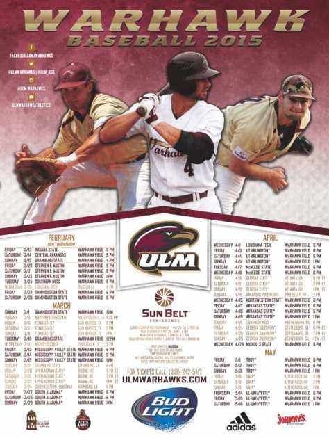2015_ULM_Baseball_Poster