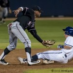 Alan Trejo tags out Daniel Gardner attempting to steal 2nd to end the 7th