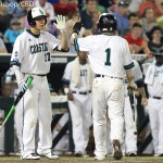 TCU beat Coastal Carolina 6-1 Tuesday night at TD Ameritrade Park in Omaha, Neb. (Photo by Michelle Bishop)