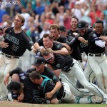 Coastal Carolina earned its first national championship after beating Arizona 4-3 in the third game of the College World Series finals at TD Ameritrade Park in Omaha, Neb. (Photo by Michelle Bishop)