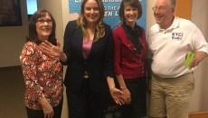 Arianna Gray, Dr. Jennifer Blalock, Dr. Brenda Kihl and Radio Host Stuart Sax