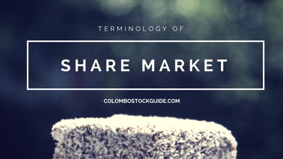 Terminology of Share Market