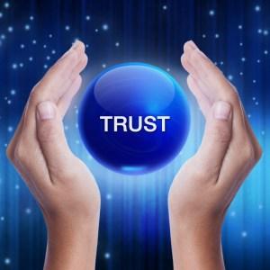 Trust blue ball