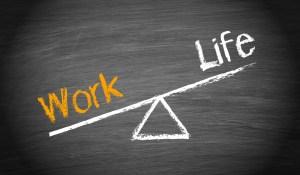 Work life chalkboard
