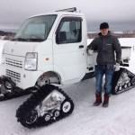 2010 Snowbound Suzuki Carry with MATTRACKS!