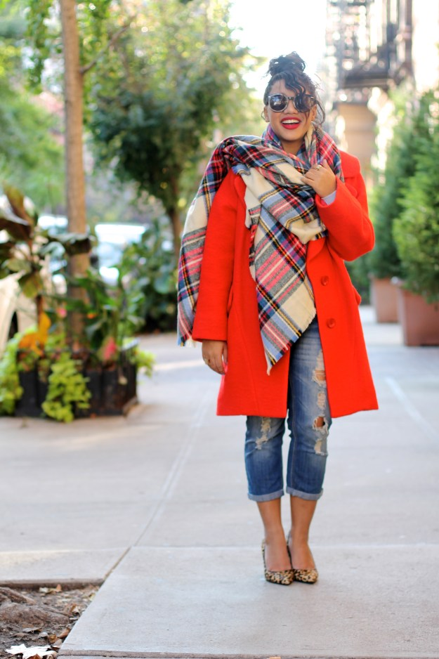 blanket scarf zara blanket scarf asos blanket scarf blanket scarf oversized coat oversized scarf red coat fall red coat perfect red coat fashion blogger new york fashion blogger nyc fashion blogger street style fall style