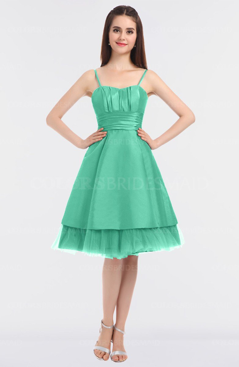 Inspirational Colsbm Raelyn Mint Green Princess Spaghetti Sleeveless Zip Up Knee Length Bridesmaiddresses Colsbm Raelyn Mint Green Bridesmaid Dresses Colorsbridesmaid wedding dress Mint Green Bridesmaid Dresses