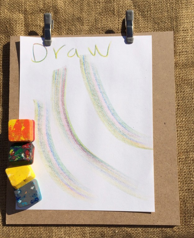 kids square block crayons, eco