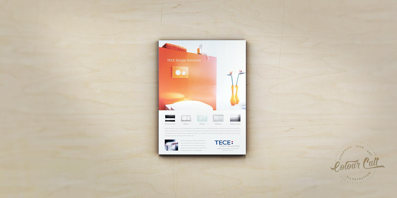 TECE toilet systems advertisement design by Colour Cult graphic design, Brisbane.
