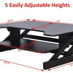 Rocelco ADR Height Adjustable Dimensions
