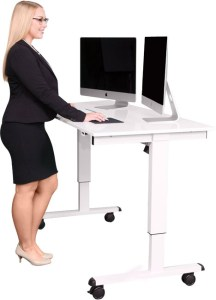 Stand Up Desk Store 60 Inch Electric Stand White