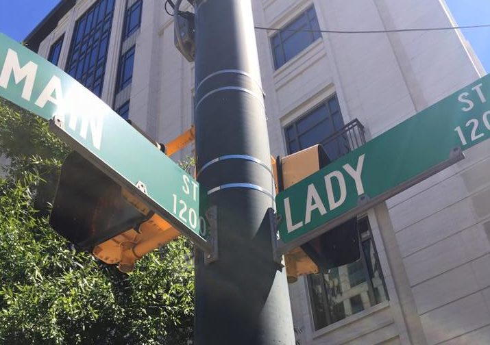 At the corner of Lady and Main