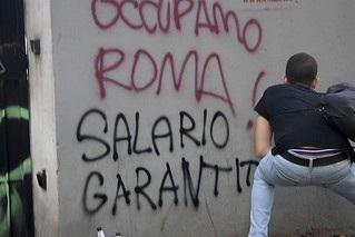 Roma - Scritte salario