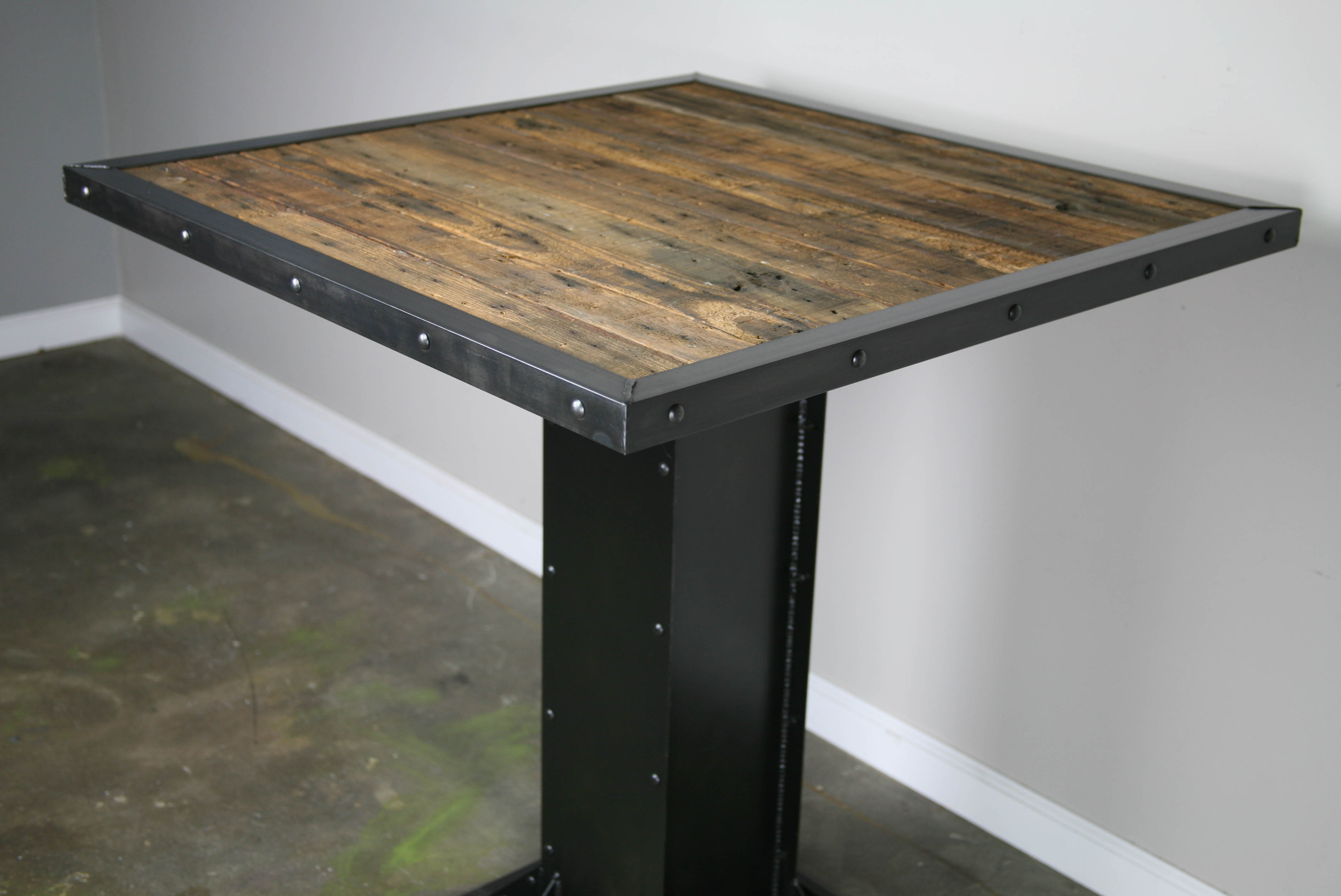 modern industrial bistrodining table industrial kitchen table Project Description