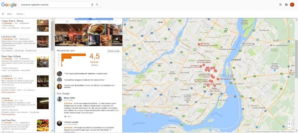 recherche google places