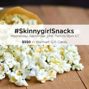 #SkinnyGirlSnacks Twitter Party 9/24 11am EST