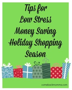 Tips for a Low Stress and Money Saving Holiday Shopping Season