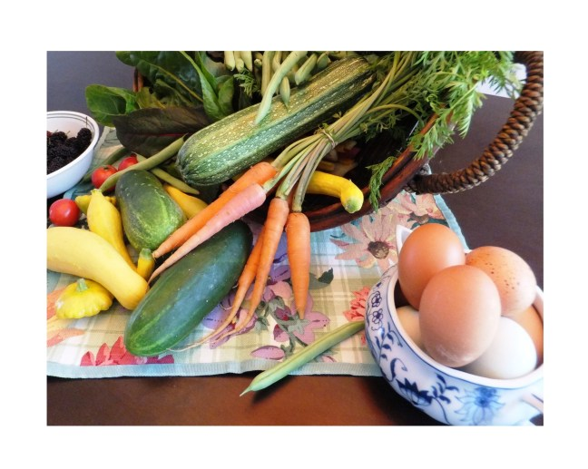Organic eggs and produce