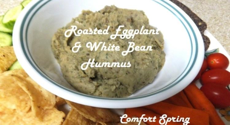 Roasted Eggplant & White Hummus